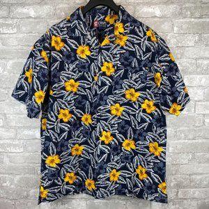 Chaps Ralph Lauren Blue Hawaiian Shirt